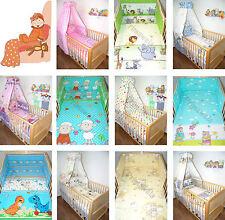 Baby Bettset 5-20T Himmel Bettwäsche Nestchen Himmelstange Decke Wickelauflage