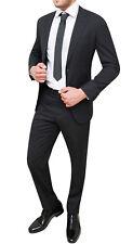 Abito completo uomo Diamond sartoriale nero rigato vestito gessato elegante