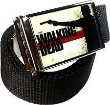 Walking Dead Belt Buckle Bottle Opener Adjustable Web Belt