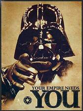 Your Empire Needs You, Retro Metal Plaque, Man Cave, Star Wars
