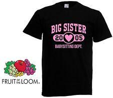 Big Sister Personlised Age  T Shirt -  Big Sis Gift Girls Kids Funny T shirt Top
