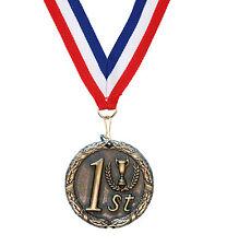 1st 2nd 3rd Laurel 50mm Medal (Gold, Silver, Bronze) & Ribbon + FREE Engraving