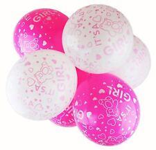 "Happium - 10 X 12"" Latex Balloons Baby Girl/Boy - Teddy Bear Print Baby Shower"