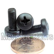 5mm (M5) - Phillips Pan Head Machine Screws DIN 7985 A Black Oxide