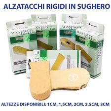 ALZATACCHI ALZATALLONI RIGIDI IN SUGHERO PER RIALZARE IL TALLONE DA 1CM A 3CM