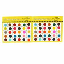 Multicolour Round Bindi 2 mm-14 mm 100 Stick on Velvet Bindis Temp Body Art