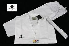 WTF Taekwondo Anzug Pine Tree Sang MooSa V-Neck weiß Revers TKD Dobok Gr.110-200