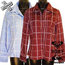 Quiksilver Roxy' AMOS & Andy ' Camisa de manga larga rojo azul Reino Unido 8 10