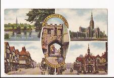 (b69) Multi View of Salisbury,  Salisbury, Wiltshire c1920 - Unused