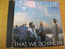 UNCLE FESTIVE THAT WE DO KNOW CD MINT- DENON JAPAN RARO