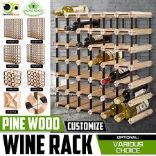 12 20 24 42 72 120 Bottle Timber Wine Rack Wooden Storage System Cellar Display