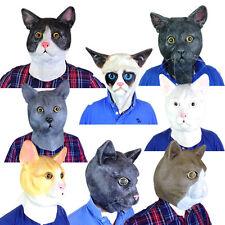 Cat Mask Full Head Latex Pussy House Cats Animal Masks Fancy Dress Costume