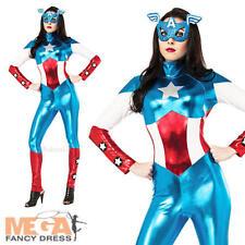 MISS rêve américain + masque mesdames déguisements Captain america femme costume nouveau
