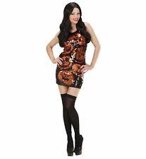 Costume Halloween Donna, Vestito Paillettes Zucche PS 09145