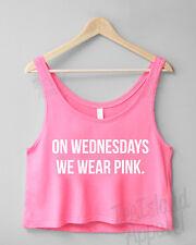 Il mercoledì indossiamo ROSA TAGLIATA Tank Top-media ragazze si CANT SIT con noi