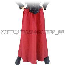 Langer Rock Baumwolle Leinen Mittelalter Rock Mittelalterrock, S-XXXL, 3 Farben