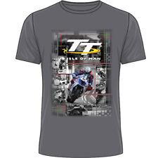 Official 2018 Isle of Man TT Races  Senior Race Charcoal Grey T'Shirt - 18ATS6G