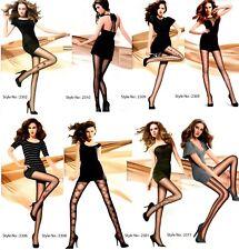 Women Ladies, Girls Quality Fashionable Patterned Panty Tights 20 Denier UK Lot