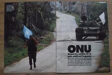 Article ONU, casques bleus,Yougoslavie,Cambodge  1992 , clipping