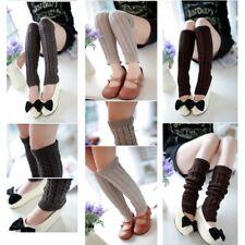 Legwarmers Plain Knitting Girls Ladies Ribbed Dance Women Warmers Leg