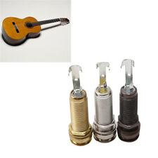 Guitar Metal Threaded Cylinder Mono End Pin Output Jack Plug Socket D
