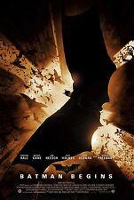Batman Begins Movie Poster |5 Sizes| DVD BluRay Arkham PS4 xbox xbone PC Art #1