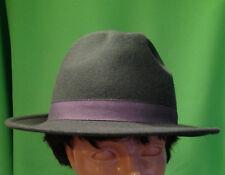 Cappello Falda Borsalino Bogart Grigio 100% feltro di lana Made in Italy 58de276fa754