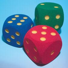 VOLLEY Augenwürfel - Schaumstoffwürfel - Spielwürfel  unbeschichtet, 16 cm sort.
