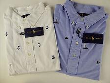 Polo Ralph Lauren SS Knit Oxford Polo Shirt $85-135 NWT Hampton Sailboat Anchors
