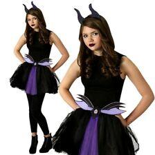 REGINA Cattiva Malefica Costume Bambini Horror Halloween Fancy Abiti 4-12Y HB