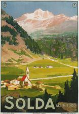 TV18 Vintage 1920's Italy Italian Solda Sulden Tyrol Travel Poster A3
