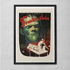 FRANKENSTEIN MOVIE POSTER - Classic Film Art - Retro Cult Movie Poster Classic M