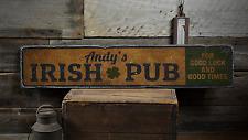 Irish Pub Shamrock, Good Luck & Good - Rustic Distressed Wood Sign ENS1001672