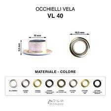 Occhielli vela VL40 in alluminio ferro ottone Ø 18,5 mm 100 pz anelli metallo