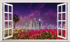 Dubai Window Wall Self Adhesive Sticker Large Decal Print Poster 3D