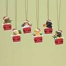 Puppies in Santa Basket Ornament