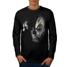 Zombie Skull Apocalypse Men Long Sleeve T-shirt NEW | Wellcoda