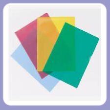 A4 en plastique colorés cut flush dossiers portefeuilles poches top & ouverture latérale