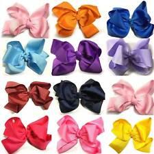 6'' Bow Hair Clip Alligator Clips Girls Ladies Ribbon Grosgrain School Uniform