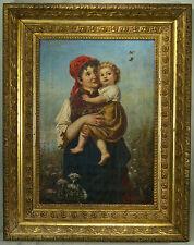 P.Hoffmann 19 century original Signed Oil on Canvas Painting