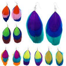 Bezaubernde Federohrringe in vielen Farben Hippie Ohrringe Feder