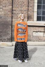 Women's New Three Carp Fish Pattern Long Sleeve Round Neck Knit Sweater Pullover