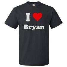 I Love Bryan T shirt I Heart Bryan Tee