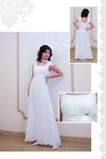 Hochzeitskleid Brautkleid Umstandskleid Abendkleid Braut Standesamtkleid weiß