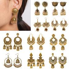 Fashion Gold Plated Jewelry Indian Earring Handmade Jhumki Earrings Bell Jewelry