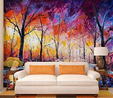 3D Painting Trees 023 WallPaper Murals Wall Print Decal Wall Deco AJ WALLPAPER