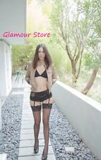SEXY calze AUTOREGGENTI nere Rete Balza Pizzo intimo lingerie Fashion GLAMOUR