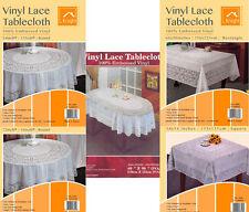 VINILE Lace tablecloth sala da pranzo Centro Tavola Decorazione Rotondo Quadrato Rettangolo Ovale