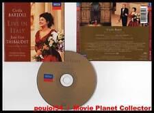 """CECILIA BARTOLI """"Live In Italy"""" (CD) Jean-Yves Thibaudet 1998"""