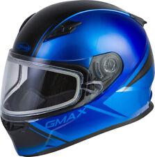 Gmax FF-49S Full-Face Hail Snow Helmet Blue